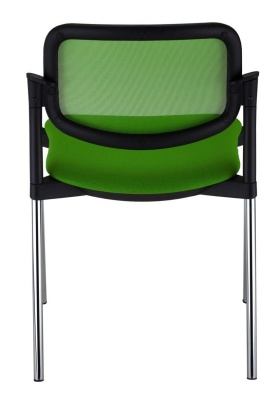 Trapeze Mesh Back Conference Chair Rear View
