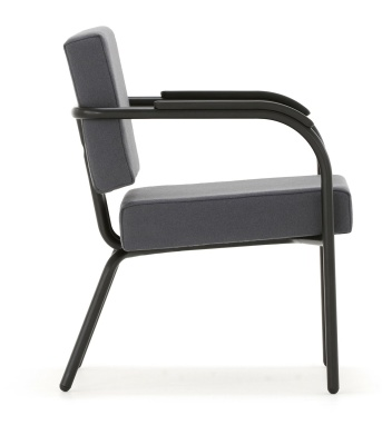 Academy Arm Chair Black Frame Side View
