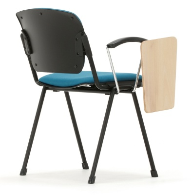 Max Conference Chair With A Writing Tablet Rear Angle
