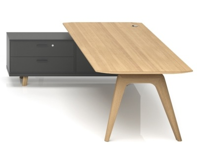 Gravity Desk And Credenza