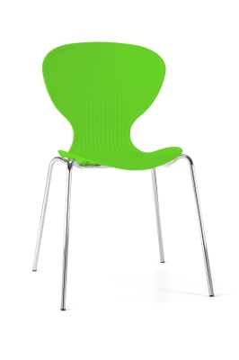 Piazza Poly Chair In Bright Green