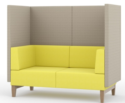 Fence Two Seater Sofa With An Extra High Back