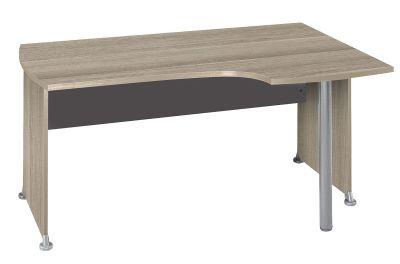 Jazz Right Hand Corner Desk In A Drift Oak Finish