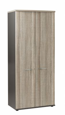 Jazz Tall Cupboard With Drift Oak Doors