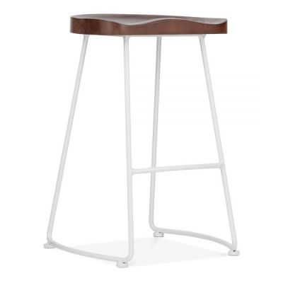 Bombay High Stool With A White Frame Front Angle