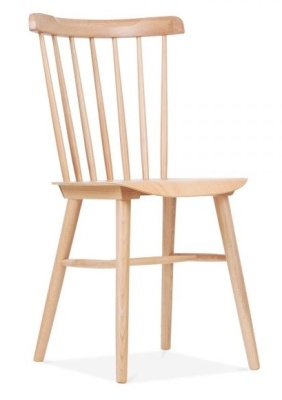 Eton Wooden Dining Chair Natural Finish Front Angle