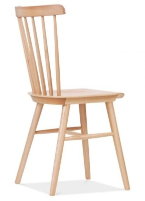 Eton Dining Chair Natural Finish Rear Angle