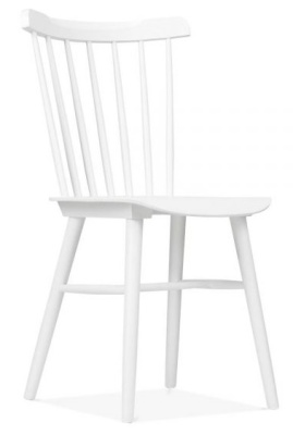 Eton White Front Angle Dining Chair