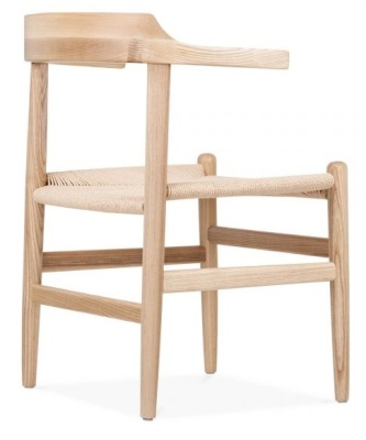 PP68 Wooden Chair Natural Finish Rear Angle