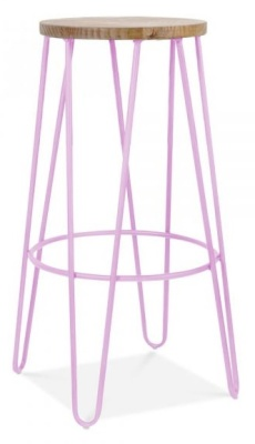 Hairpin Stool Lilac Frame