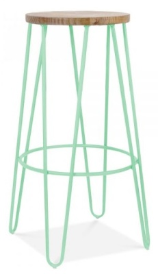 Hairpin Stool Peppermint Green Frame