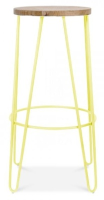 Hairpin High Stool Ywllow Frame Side View