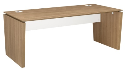 Xenon Executive Desk In Cherry With Side Panels