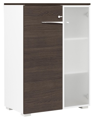 Xenon Mide Height Cupboard With A Single Glass Door