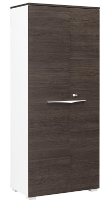 Xenon Tall Cupboard With Ark Oak Doors And Top