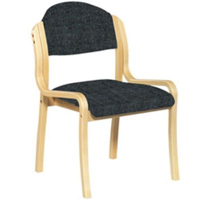 Derby Side Chair Black Fabric