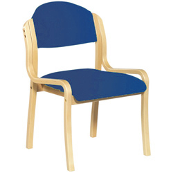 Derby Side Chair Blue Fabric