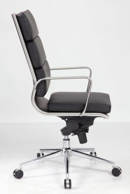Topaz Eames Style High Back Executive Chair Side View
