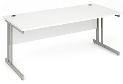 Revolution Rectangular Desk In White