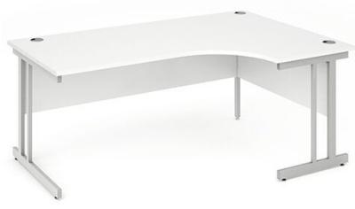 Revolution Right Hand Corner Desk With A White Top