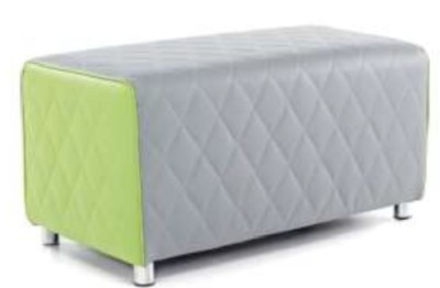 Ventec Two Seater Bench Lime Green And Grey