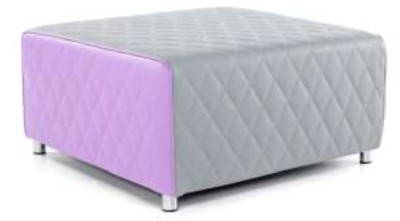 Vantec Square Break Out Stool Purple And Grey