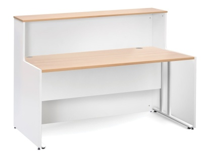 GM Reception Desks Users Side With A Beech Top And Desk