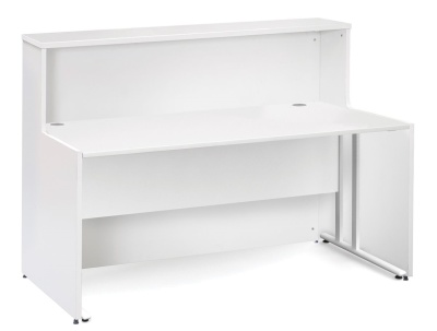 GM Reception Desk Users Side White All Over