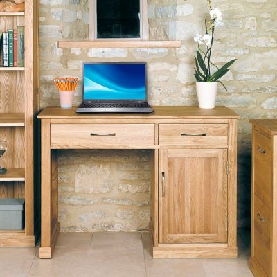 Warwick Single Pedestal Solid Oak Desk