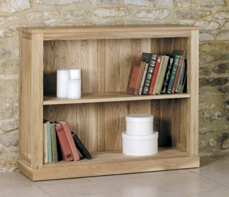 Warwick Solid Oak Low Bookcase 1