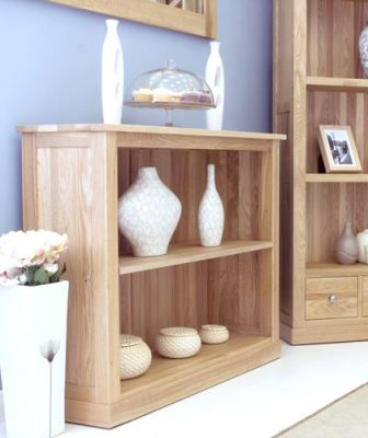 Warwick Solid Oak Low Bookcase 4