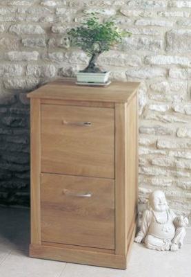 Warwick Two Drawer Solid Oak Cabinet