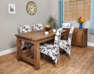 Warwick Rough Sawn Dining Table 2