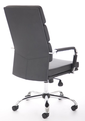 Evoque High Baxk Leather Chair Rear Angle