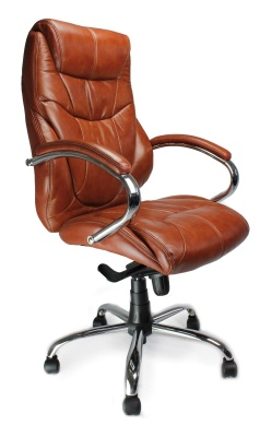 Sandhurst Tan Leather Executive Chair