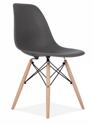 Eames Inspired DSW In BLack Front Angle