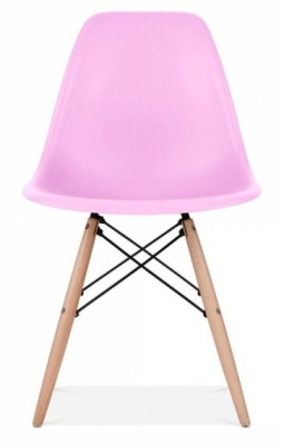 Eames Inspired DSW Chair In Lilac Frint View