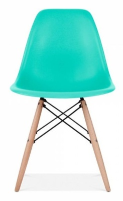 Eames Insplired DSW Chair Turquoise Shell Front Shot
