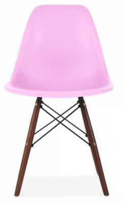 Eames Dsw Chair With A Lilac Chair Front View