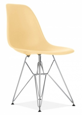 Eames DSR Chair Cream Seat Front Angle
