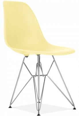 Eames Inspired Dsw Chair Lemon Seat Front Angle