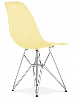 Eames Inspired Dsw Chair With A Lemon Seat Front Angle