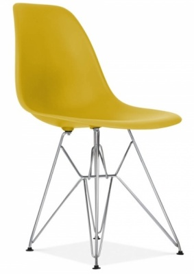 Eames Inspired Olive Green DSW Chair Front Angle