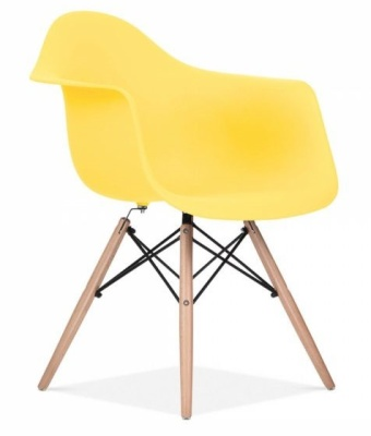 Eames Inspired DAW Chair With A Lemon Seat Front Angle