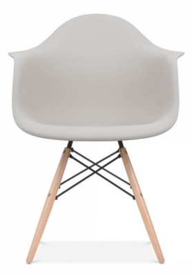 Yeames Inspired DAW Chair Light Grey Seat Front Shiot