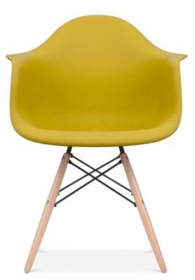 Eames Inspired DAW Chaior Olive Green Seta Front Shot