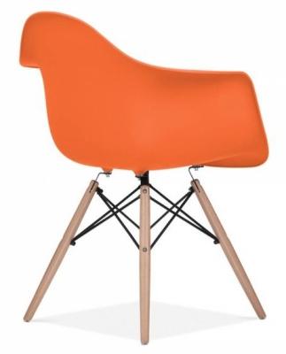 Eames Inspired DAW Chair Orange Seat Rear Angle