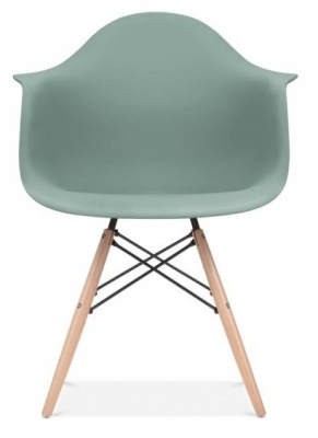 Eames Inspired DAW Chair Silver Blue Seat Front Shot
