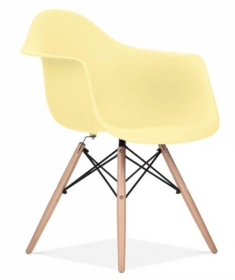 Eames Inspired DAW Chair With A Lemon Seat Front Angle Shot