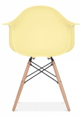 Eames Inspired DAW Chair With A Lemon Seat Front Shot